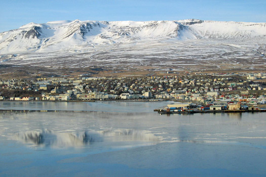 The town of Akureyri, Iceland. Photo by NH53