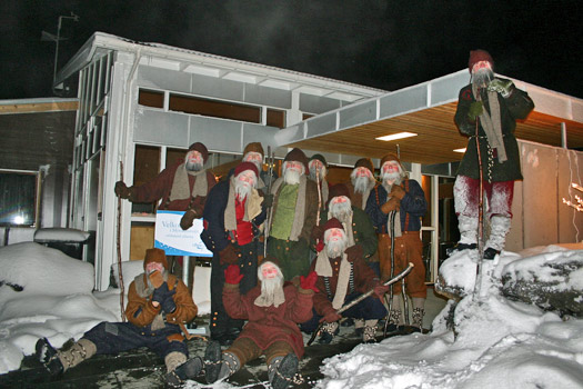 The Yule Lads' annual bath at Myvatn Nature Baths, Iceland. Photo by Myvatn Nature Baths