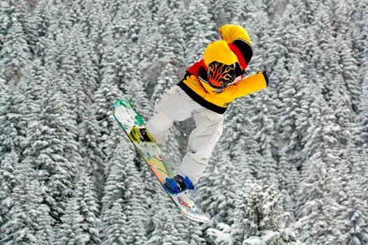Jump! Jahorina Mountain, Bosnia. Photo by Ski Sarajevo.