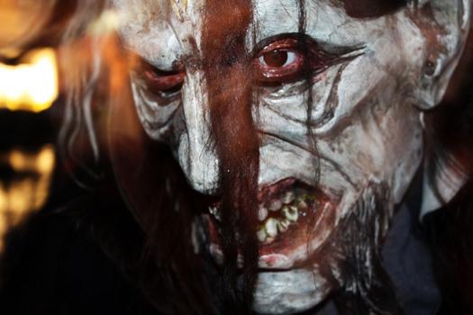 A very frightening Krampus. Photo by Xavier Tredjeu