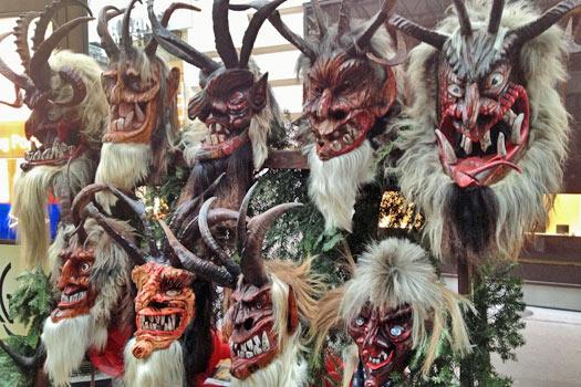 Krampus masks. Photo by Krista