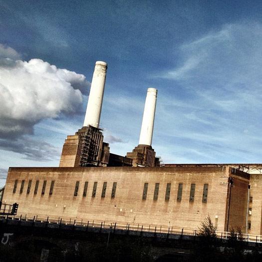Battersea Power Station in the Big Smoke. Photo:  Hannah & Noah