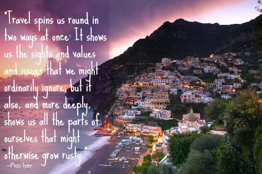 Inspirational Travel Quote. Photo by hozinja