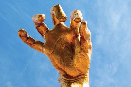 Golden Hand © Adam Kurtzman (2004) photo by Eric Salsbery