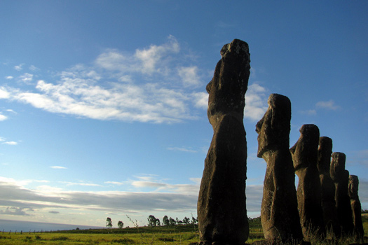 Moai at Easter Island, Chile. Photo by kevincure