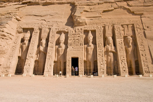 Temple of Queen Nefertari, Abu Simbel, Egypt. Photo by S J Pinkney