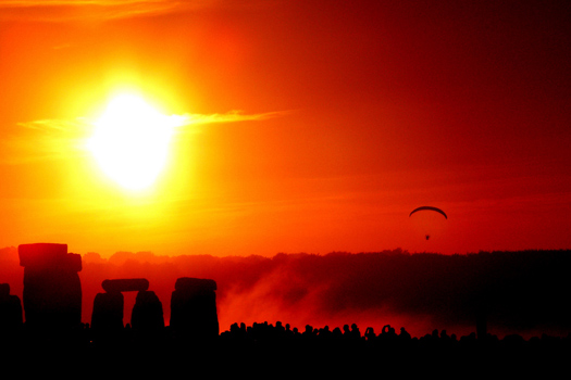 Solstice Dawn, Stonehenge, England. Photo by Taro Taylor