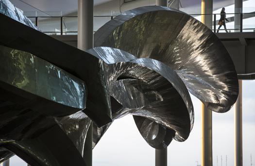 Slipstream by Richard Wilson at Terminal 2, London Heathrow