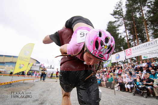 Wife Carrying World Championships (Eukonkannon), Sonkajarvi, Finland. Photo by eukonkanto.fi
