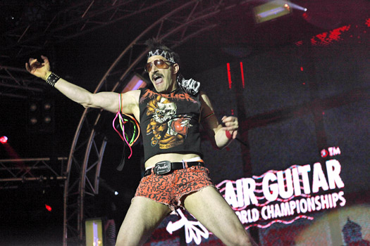 "Doug ""The Thunder"" Stroock of USA. Photo by Maiju Torvinen/Air Guitar World Championships"