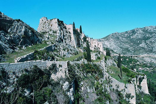 Klis Fortress (Tvrđava Klis) in Split made its debut in Game of Thrones Season 4. Photo by Croatian National Tourist Board/Sergio Gobbo