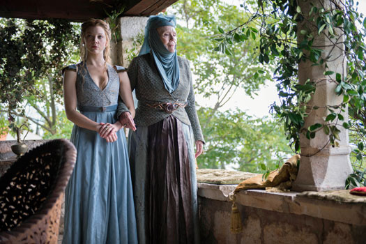 Margaery and Olenna Tyrell in King's Landing aka Trsteno Arboretum. Photo by BSkyB