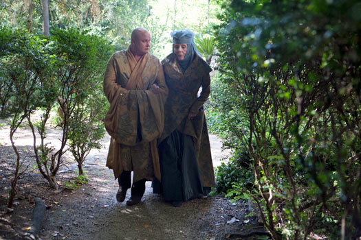 Olenna Tyrell and Varys plot in King's Landing aka Trsteno Arboretum. Photo by BSkyB