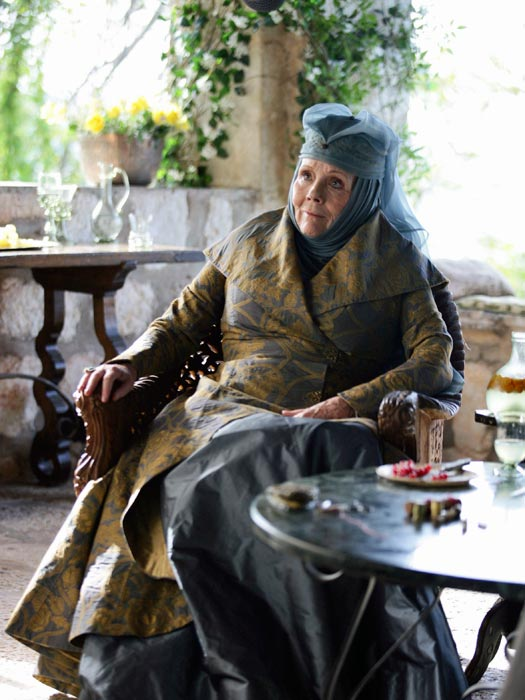 Olenna Tyrell in King's Landing aka Trsteno Arboretum. Photo by BSkyB