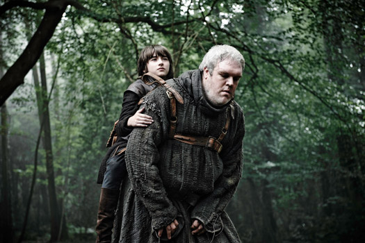 Bran and Hodor in Northern Ireland. Photo by BSkyB