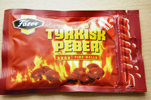 """Tyrkisk Peber"" - We triple dare you.  Photo by Ged Carroll"