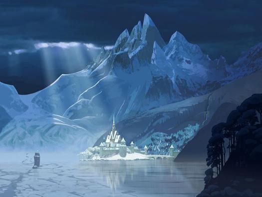 Arrendale in snow, Elsa, Frozen, Norway