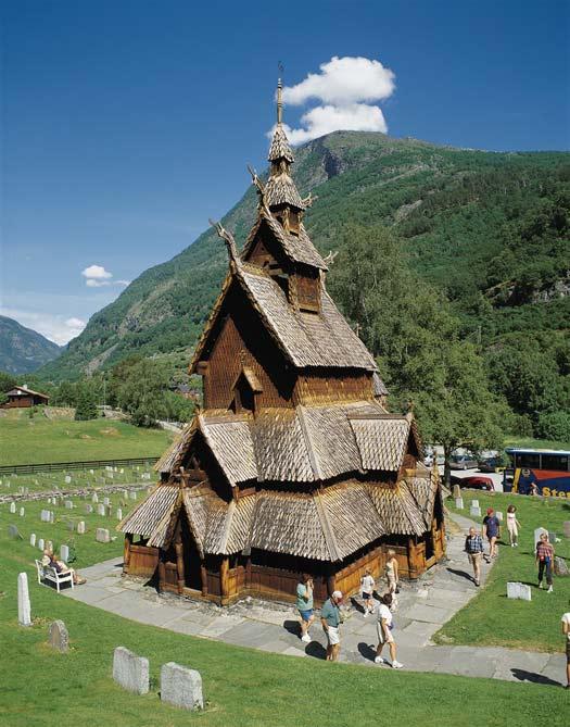 Borgund Stave Church Frozen Norway