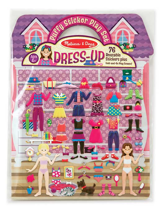 Puffy stickers Melissa and Doug top 10 travel toys