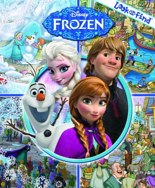 Disney Frozen Look and Find books travel toys