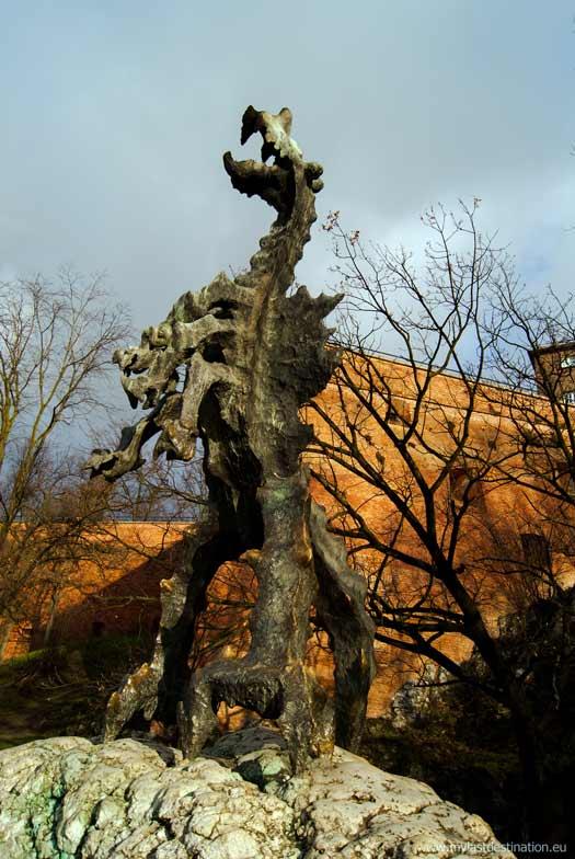 The Wawel Dragon statue at Wawel Castle by Bronisław Chromy