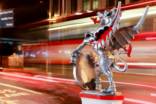 In olden times there were seven gates to the City of London. They're long gone, but marked today by statues of dragons.