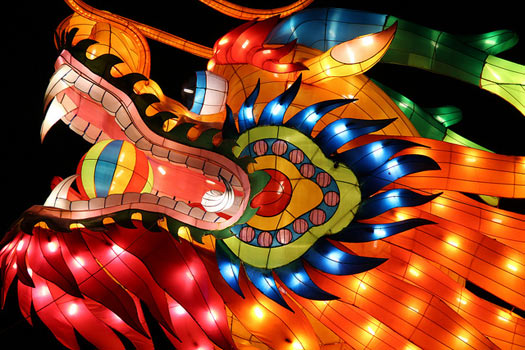 In legend, Chinese dragons control fearsome forces such as water, rainfall, hurricane and floods