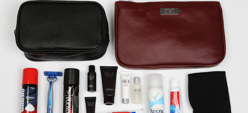 What do you get in a QANTAS amenity kit? 4