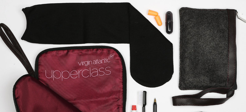 What do you get in an Upper Class Virgin Atlantic amenity kit? 2