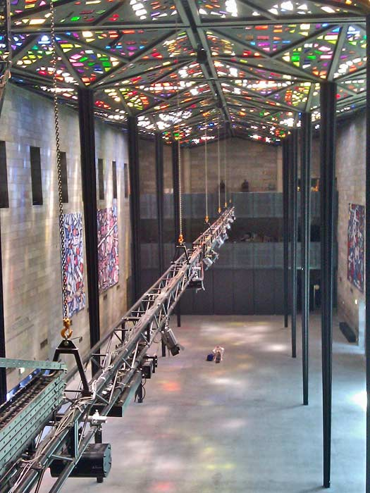World's largest stained-glass ceiling at the National Gallery of Victoria. Photo by bixentro