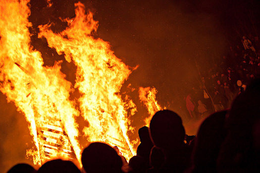Burning bird. Burning wooden bird that is. Phoenixville Firebird Festival, PA. Photo: Brian Schwenk