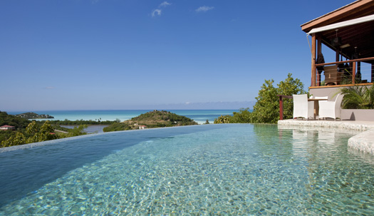 The infinity pool at Sugar Ridge Hotel, Antigua.