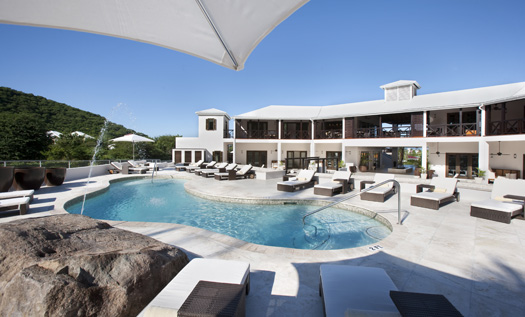 This is where you sunbathe at Sugar Ridge Hotel, Antigua.