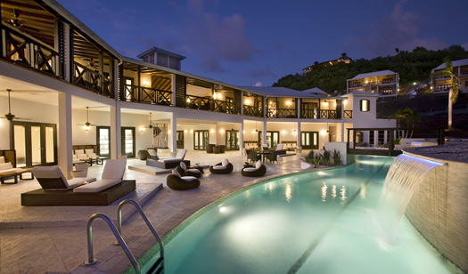 And this is what the poolside lounge area looks like at Sugar Ridge Hotel, Antigua.