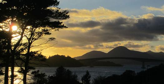 Skye at sunset. Scotland.