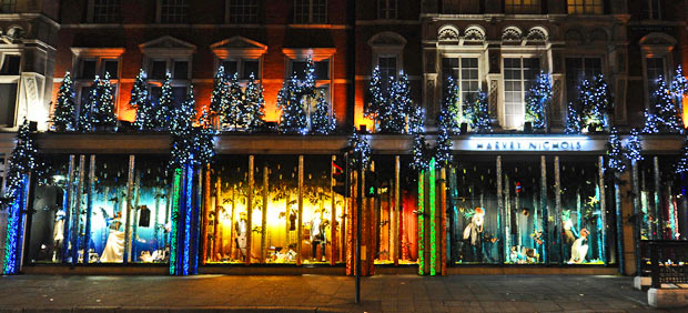 Top 11 Festive Window Displays Around the World. Photo by Harvey Nichols/Stuart Wilson at Getty Images