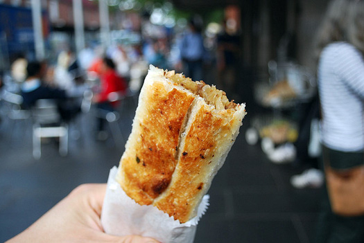 A tasty treat at a Turkish food stall at Queen Victoria Market, Melbourne. Photo: Alpha