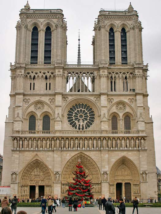 Notre Dame at Christmastime. Photo by Brian Jeffery Beggerly