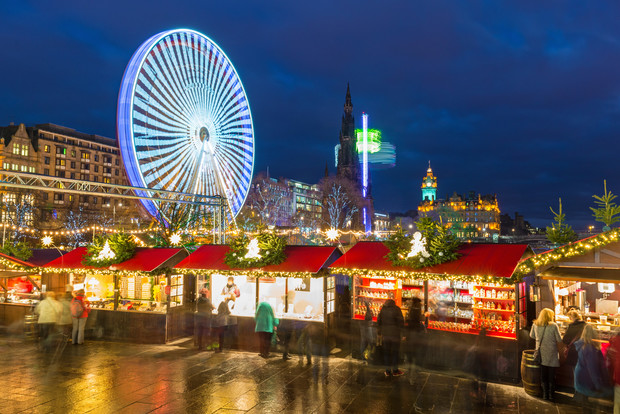 Christmas market in Edinburgh