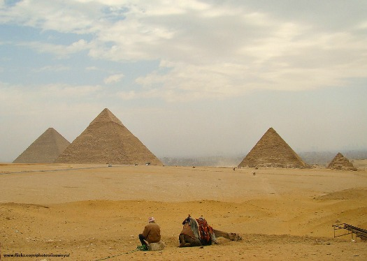 The Pyramids of Giza. Photo by Institute for the Study of the Ancient World
