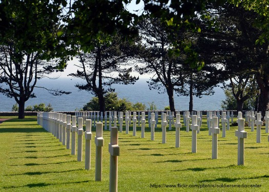 Normandy graves. Photo by U.S. Army