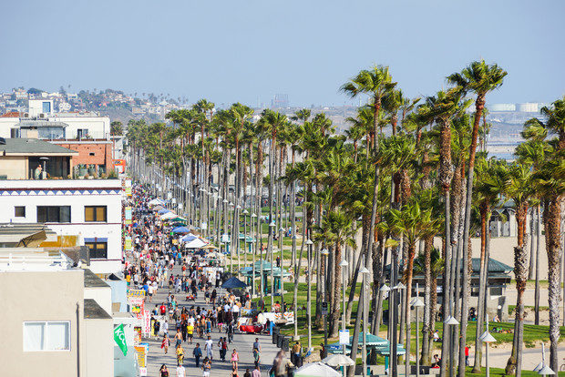 Stroll the boardwalk in Venice Beach