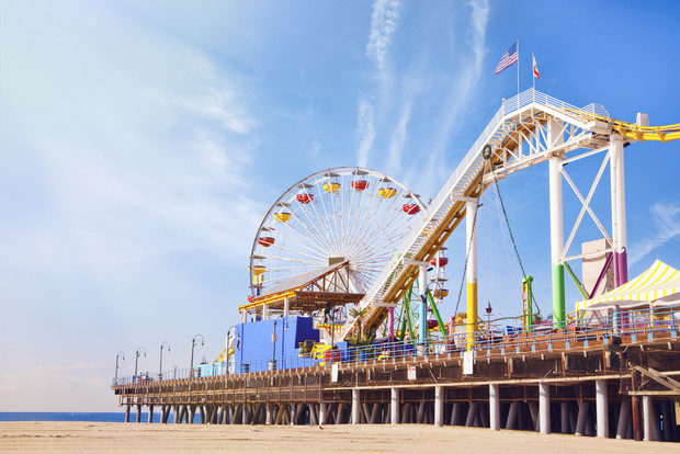 Spend the day by the beach on the Santa Monica Pier