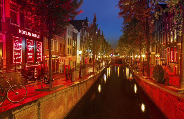 Red district in Amsterdam