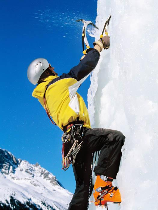 Ice Climbing © Fuse/iStock/Thinkstock (http://www.thinkstockphotos.co.uk/image/stock-photo-climber-on-icy-rockface/87346805)