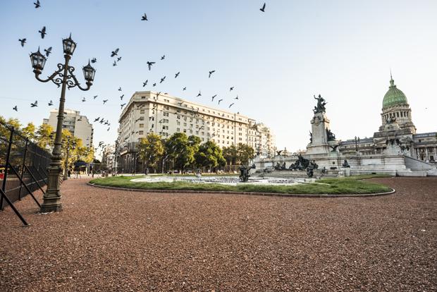 Congress Square in Buenos Aires, Argentina