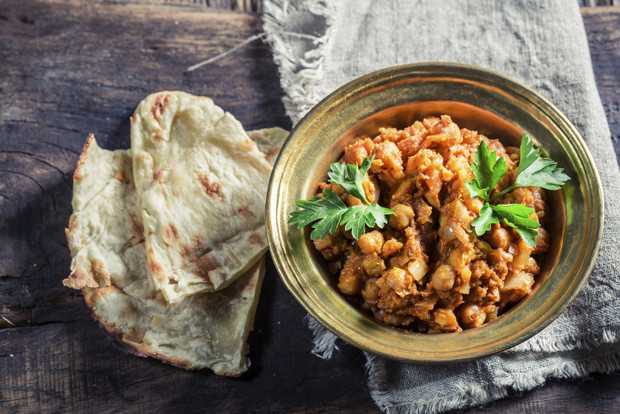 Spicy Channa Masala with chickpeas