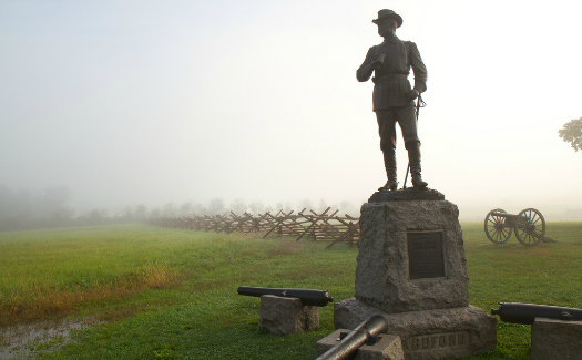 John Buford statue at Gettysburg (Image: rcsj used under a Creative Commons Attribution-ShareAlike license)