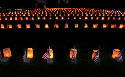 Flags at Gettysburg (Image: Beau Considine used under a Creative Commons Attribution-ShareAlike license)